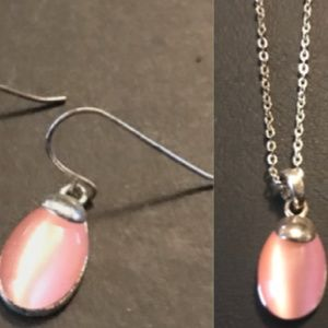 Jewelry - Rose Quartz Earrings & Matching Necklace